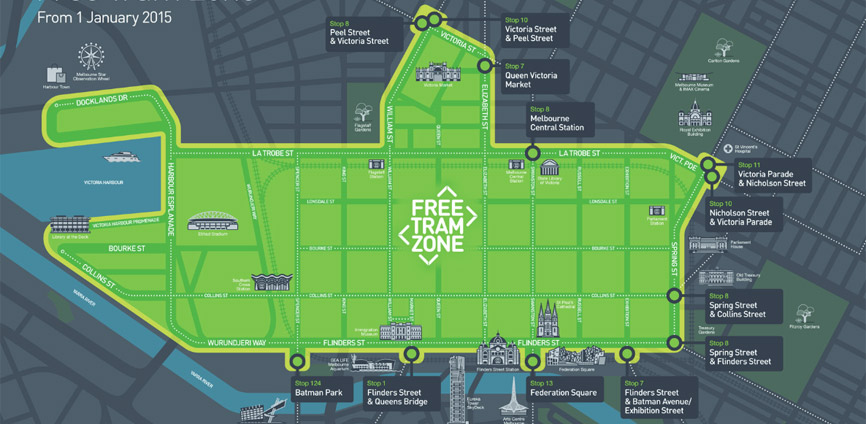 Free Trams in Melbourne City Centre