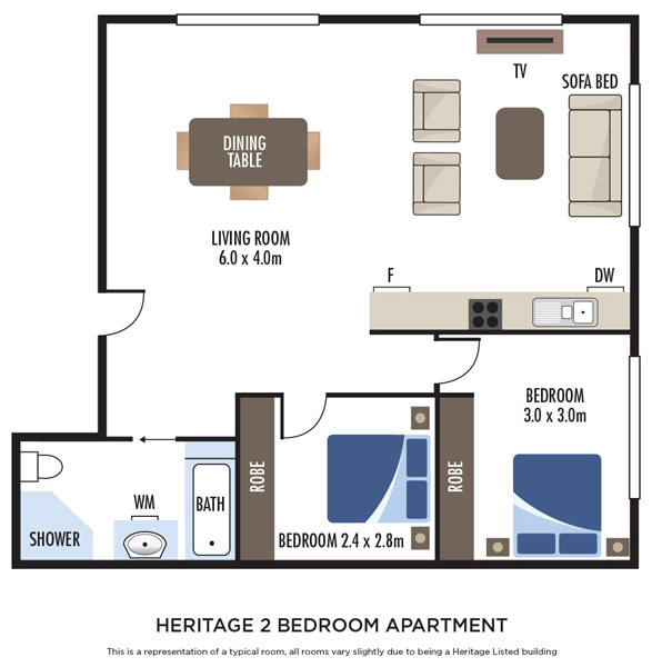 Heritage Two Bedroom Apartment