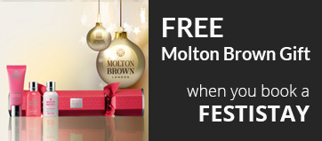 Free Molton Brown - Book a Festistay